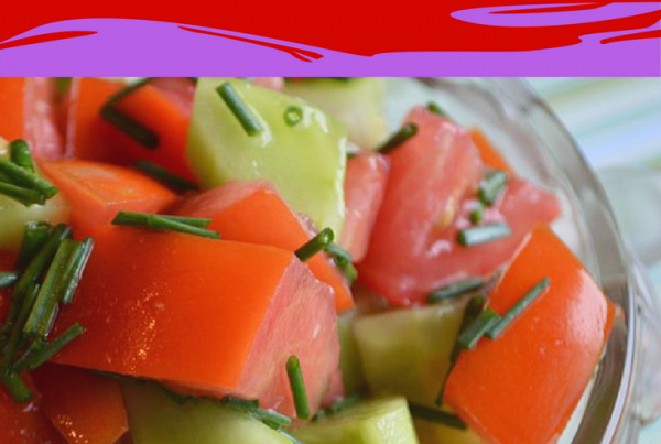 Tomato, Cucumber and Chive Salad