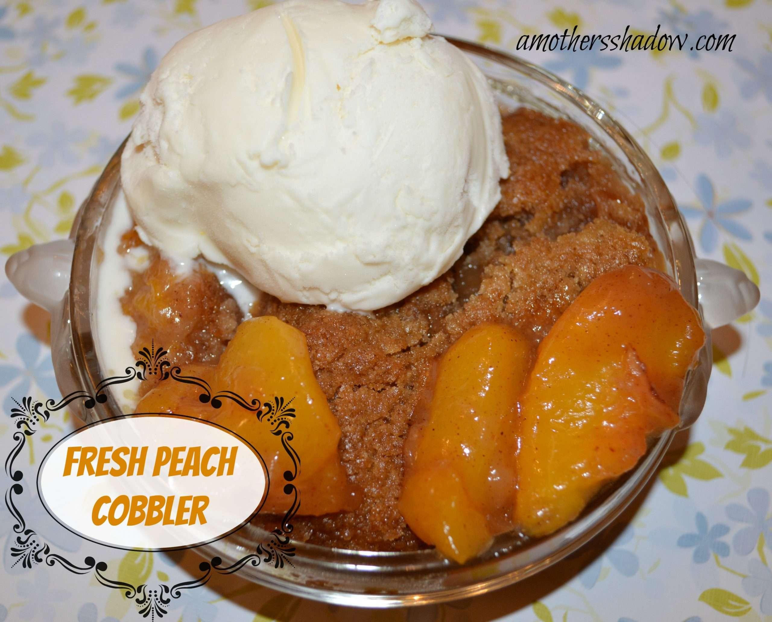 Old Fashioned Fresh Peach Cobbler
