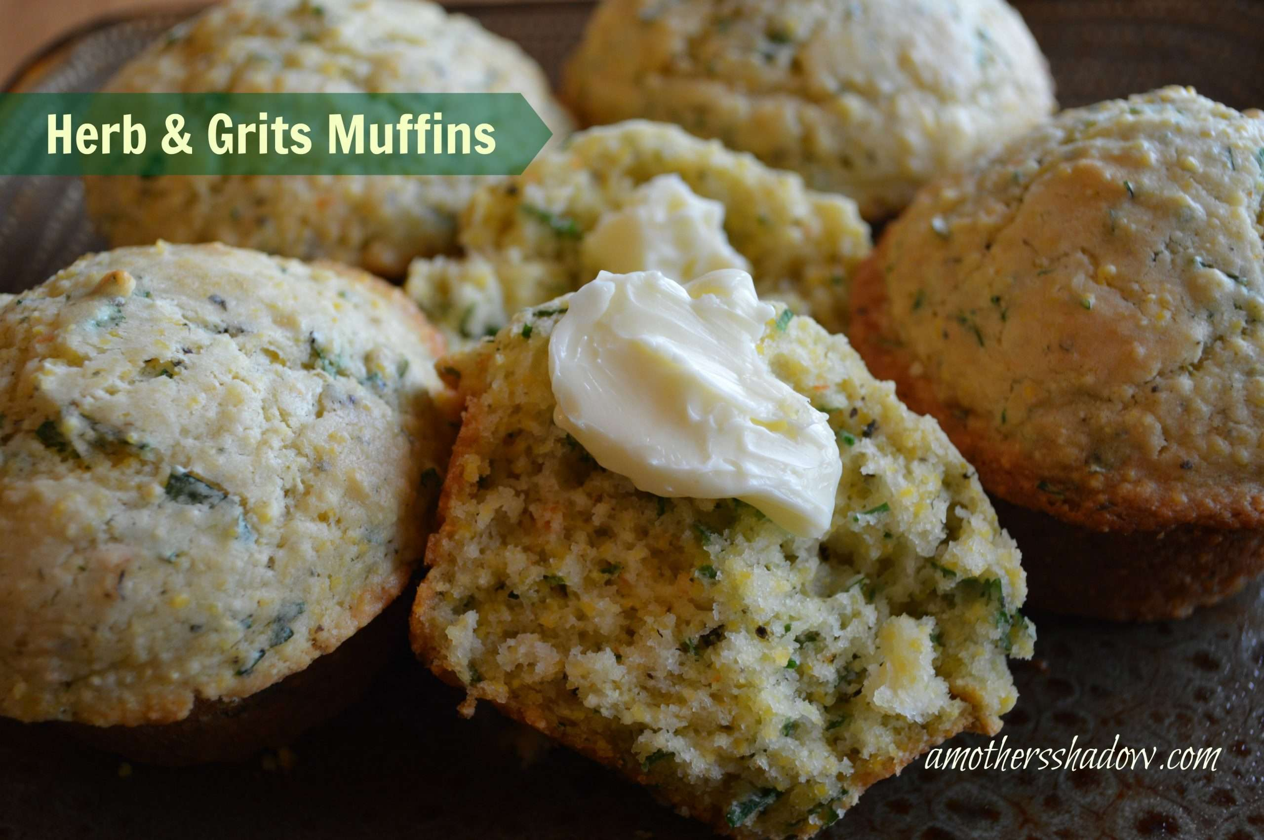 Savory Herb and Grits Muffins