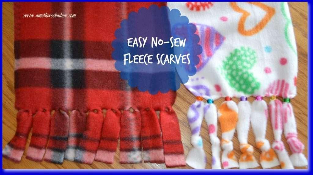 How to make an easy no-sew fleece scarf