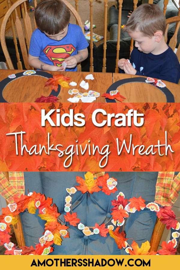 Kids Craft Thanksgiving Wreath
