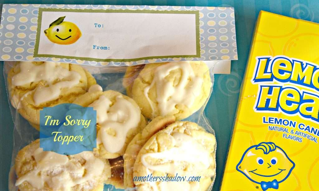 lemon cookie topper