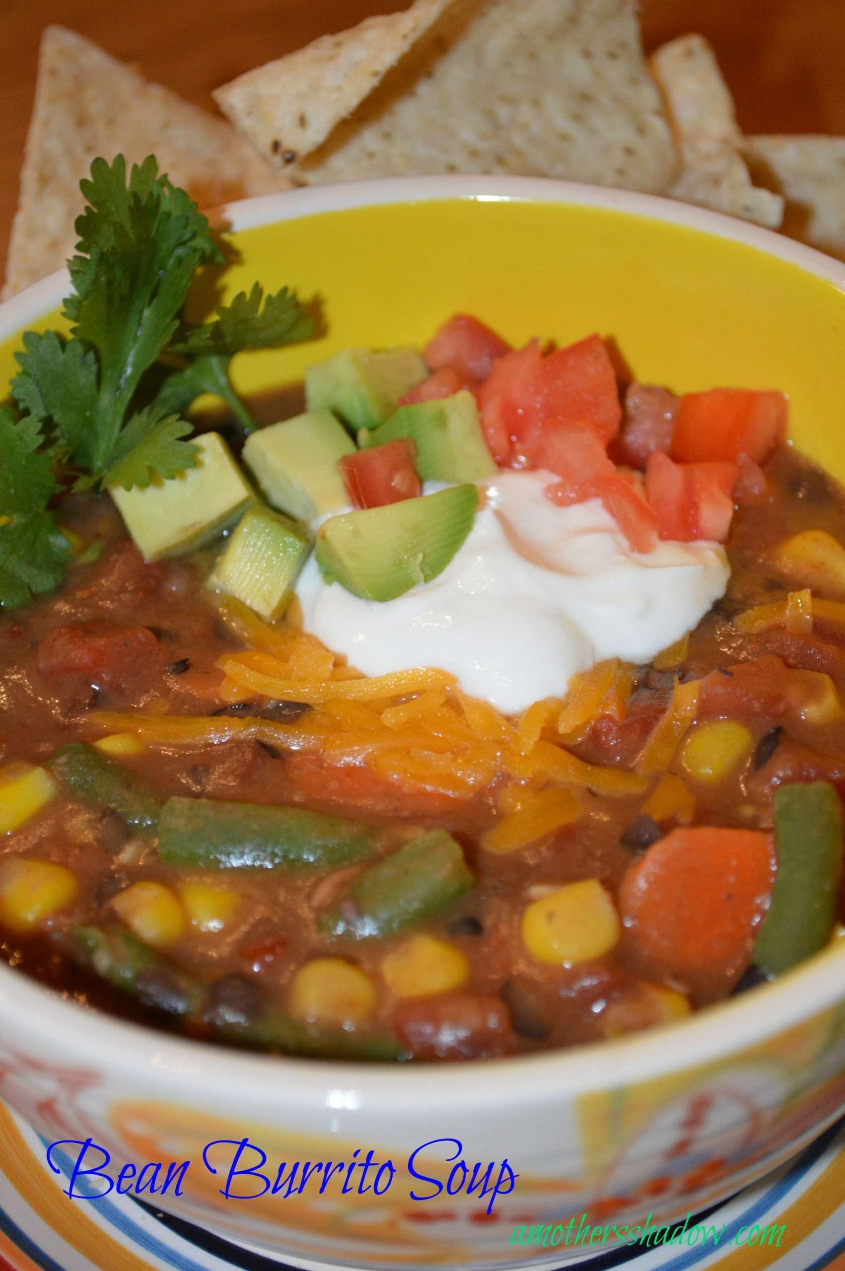Quick Healthy Burrito Soup