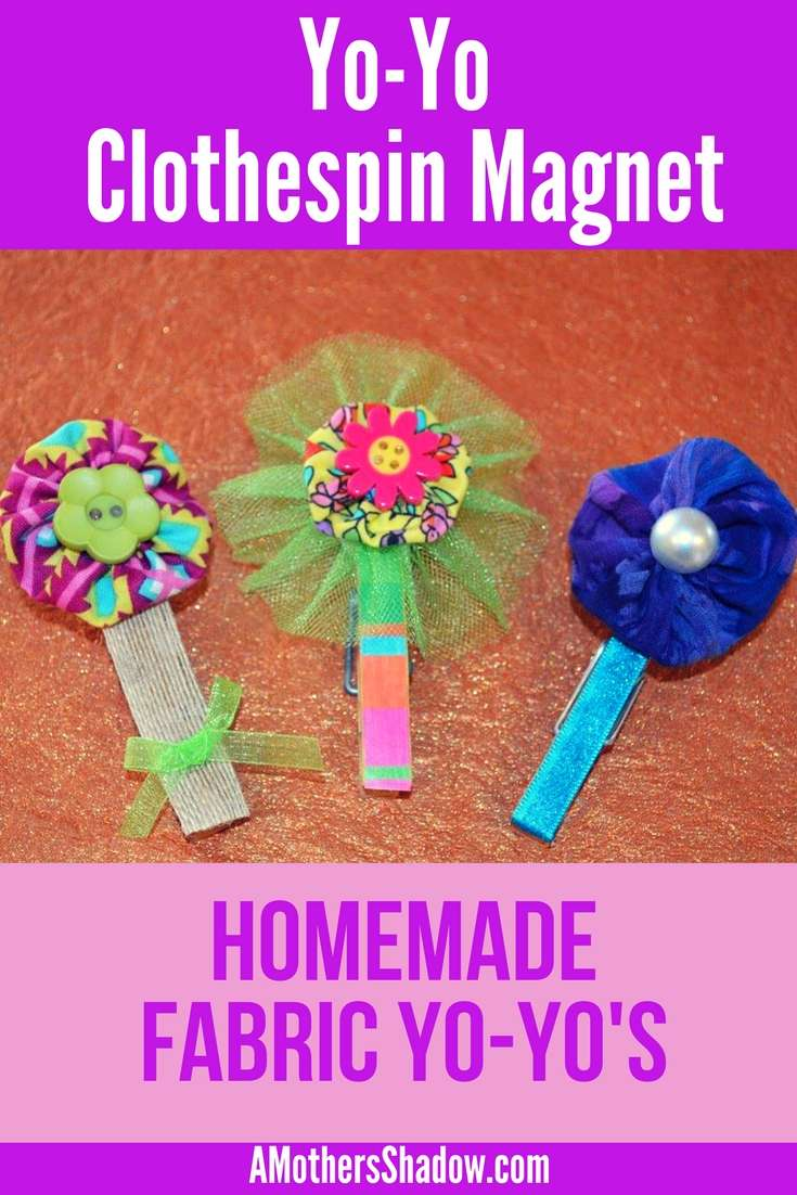 3 DIY Yo Yo Magnet Clothespins