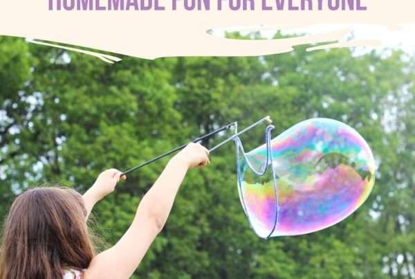 BEST Homemade Bubbles