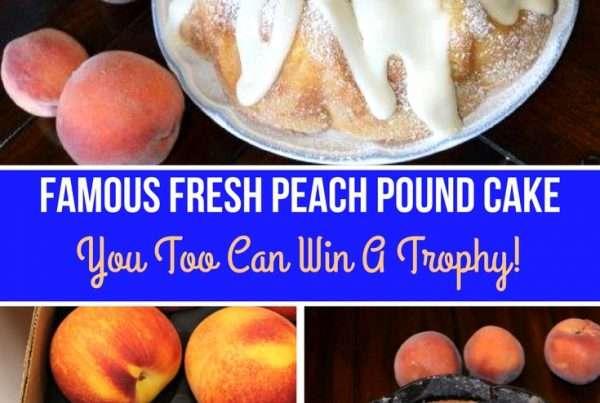 Pound Cake made with Fresh Peaches