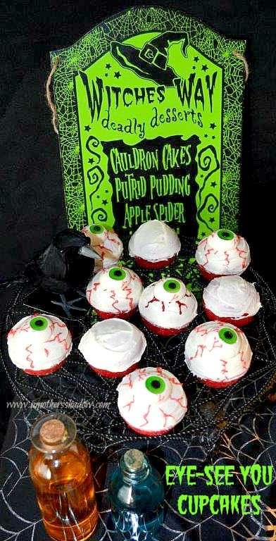 Eye See YOU Halloween Cupcakes