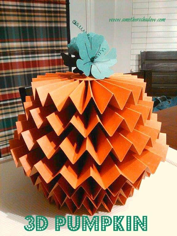 Unique 3-D Pumpkin Centerpiece