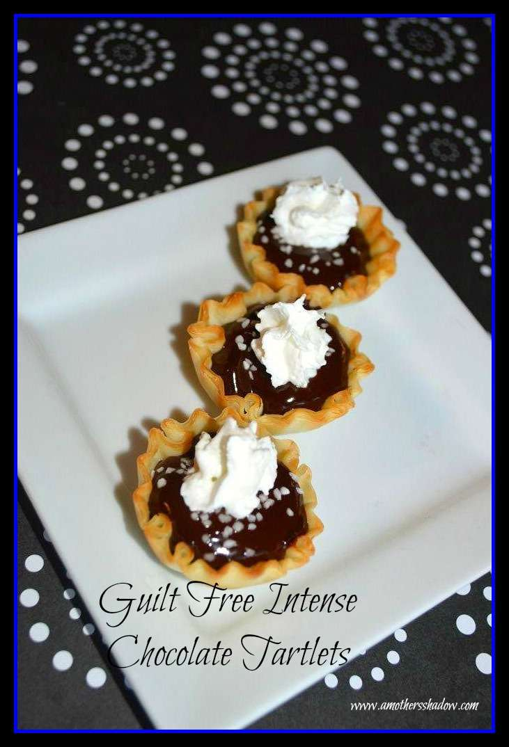 Guilt-Free Salted Dark Chocolate Tartlets