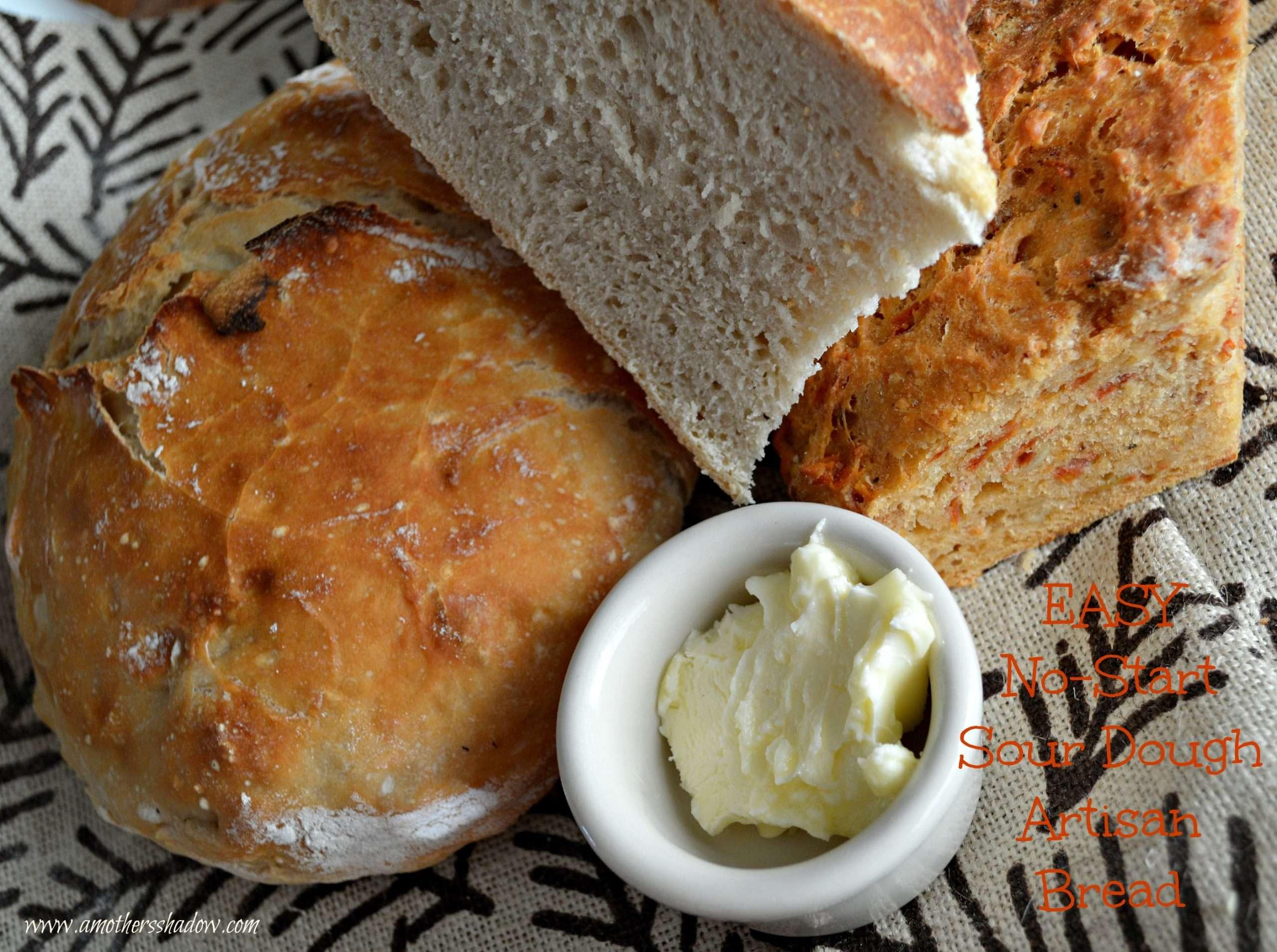 EASY No Start Needed Sour Dough Artisan Bread