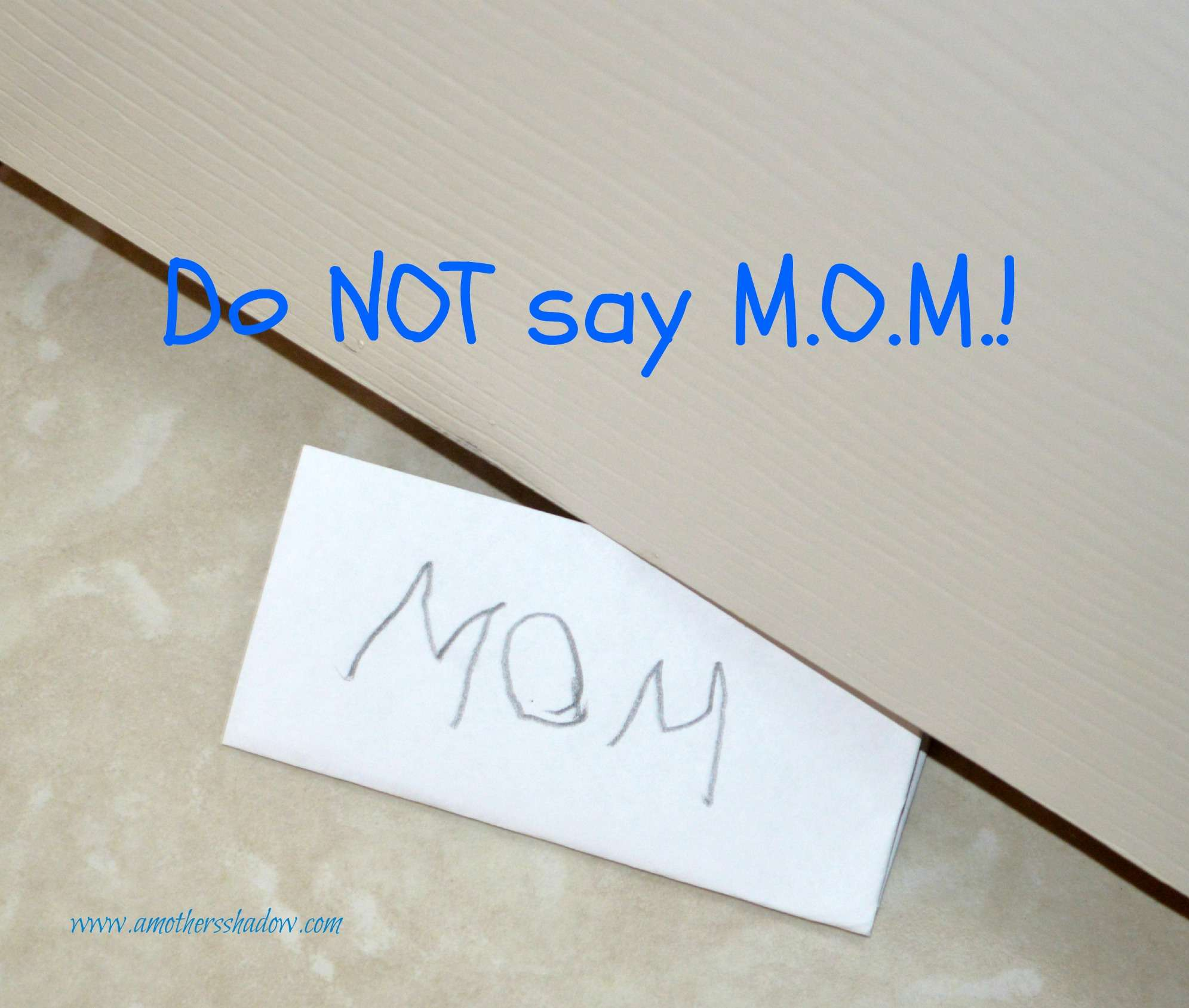 Do NOT say M.O.M! – National Prevent Child Abuse Month