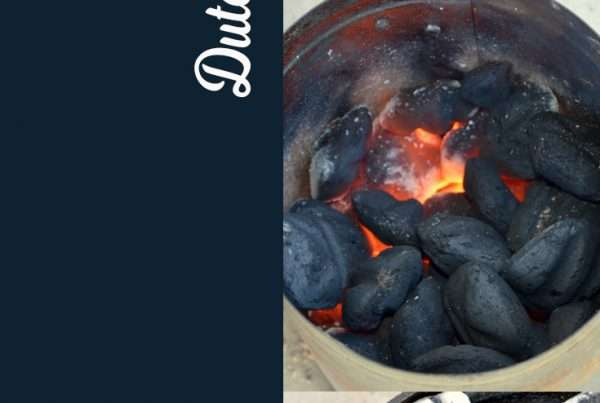 Charcoal temperature and dutch oven are taught in this post