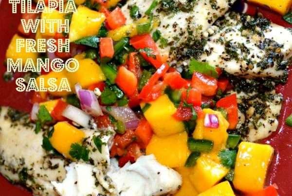 Tilapia with Fresh Mango Salsa
