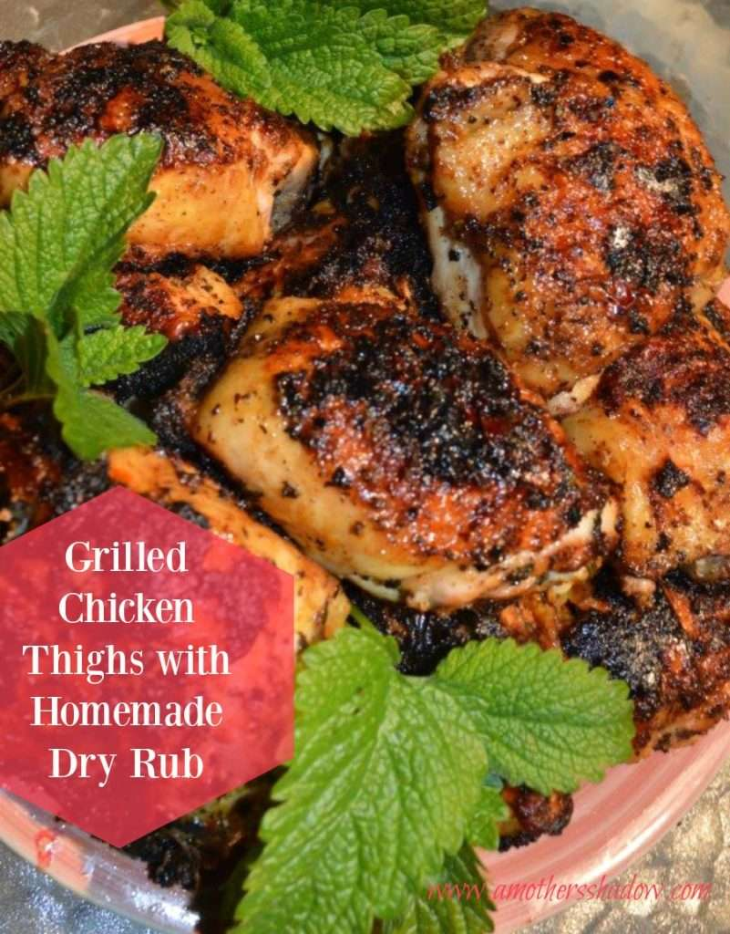 Grilled Chicken Thighs with Homemade Dry Rub