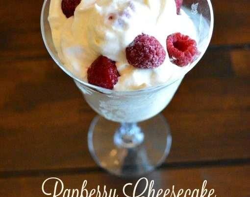 Cheeesecake Salad with raspberries