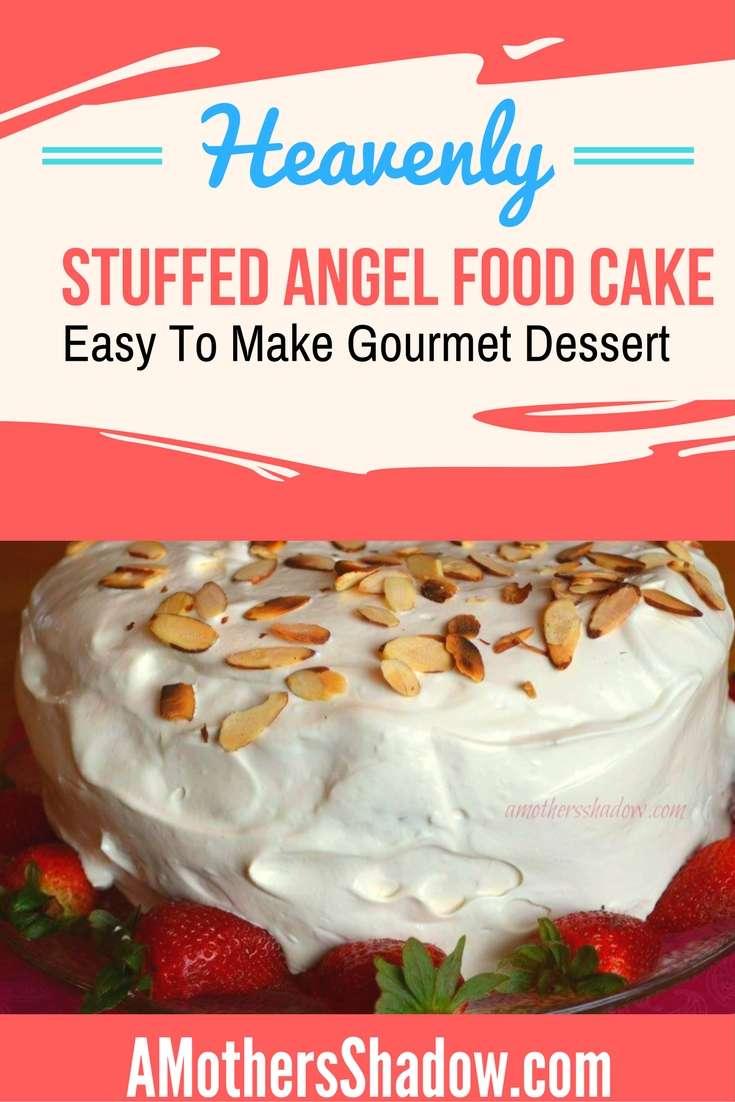 Almost Trifle Stuffed Angel Cake