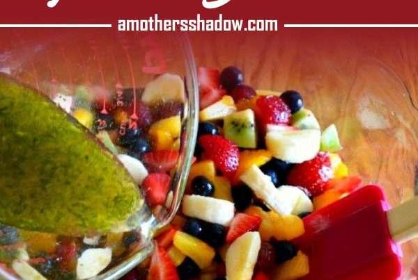 Fresh Fruit Salad with a citrus dressing