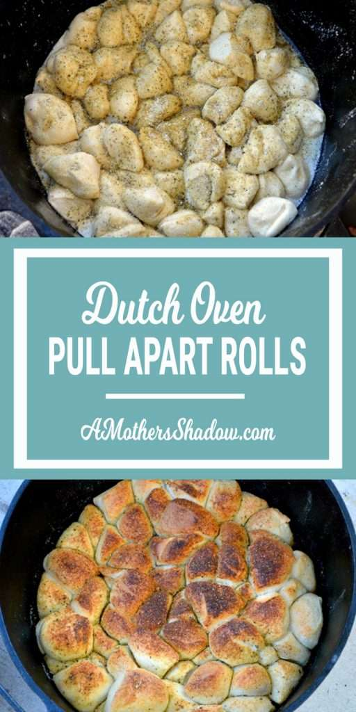 Frozen rolls cooked easily and perfectly in a dutch oven