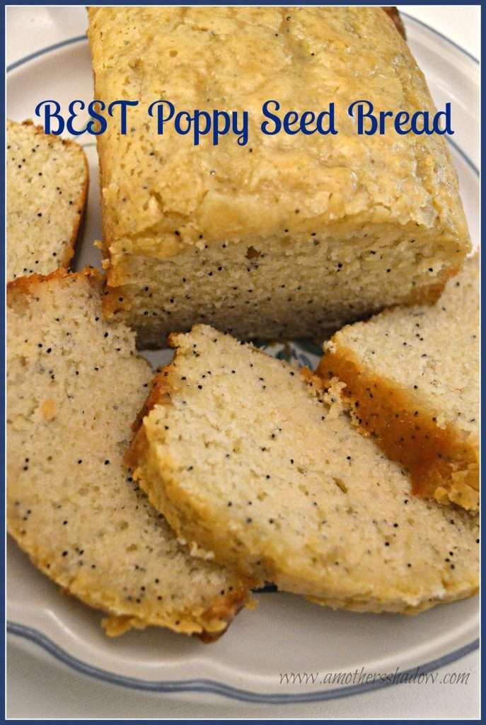 This poppy seed bread uses almond, orange and has a wonderful glaze. It's a quick bread and makes up easy and fast.