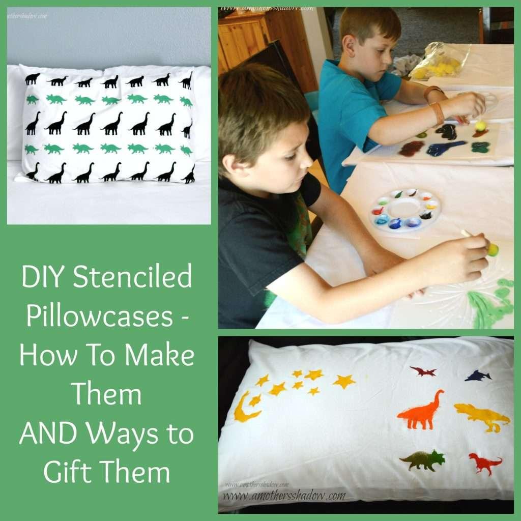 DIY Stenciled Pillowcases