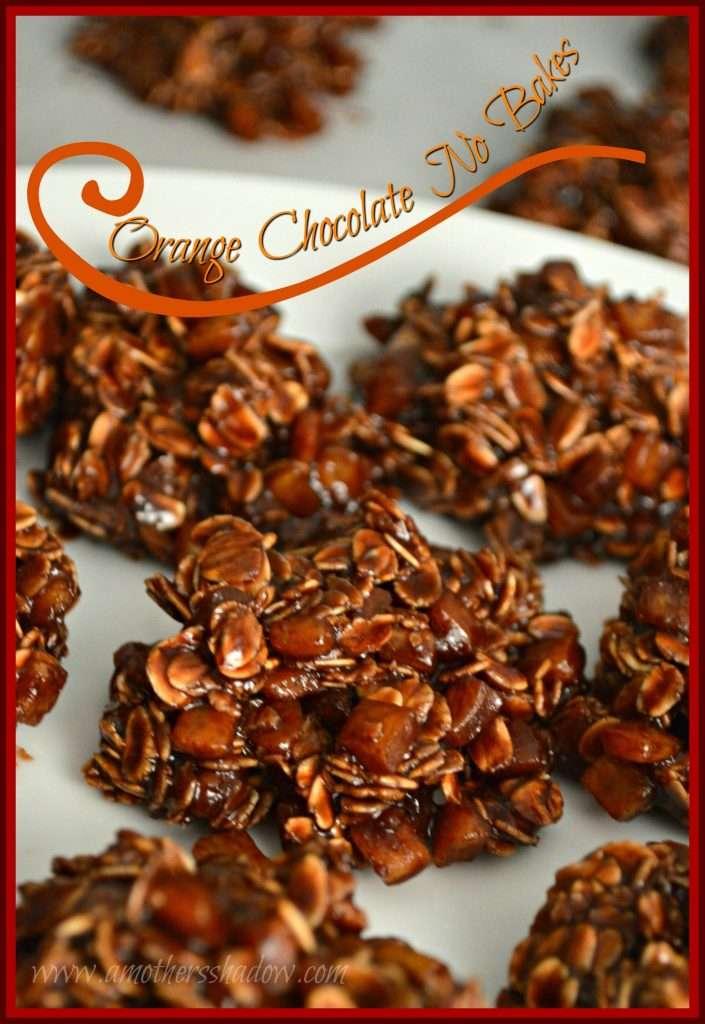Orange Peel Chocolate No Bake Cookies