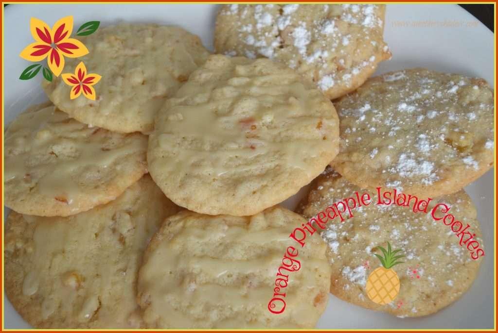 Orange Peel Pineapple Island Cookies