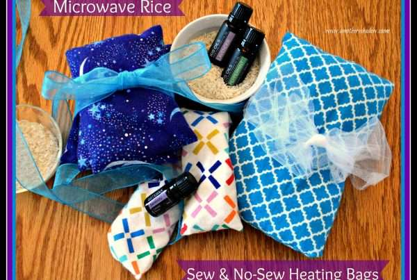 Heating pad homemade out of rice and fabric or sock and other items