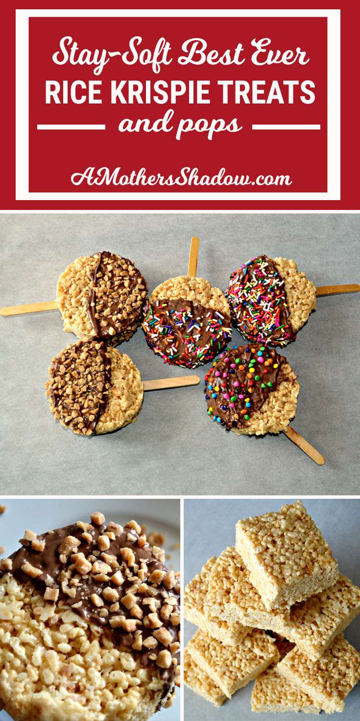 Stay-Soft BEST Ever Rice Krispie Treats and Pops